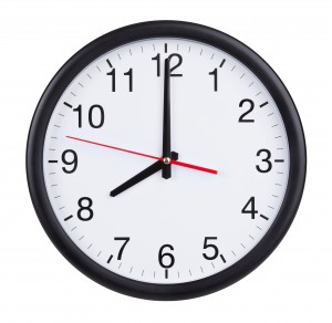 Eight o'clock on the dial round clock